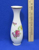 Lefton China Bud Vase Colorful Floral Flower Design 7160 Hand Painted Vi... - $10.88