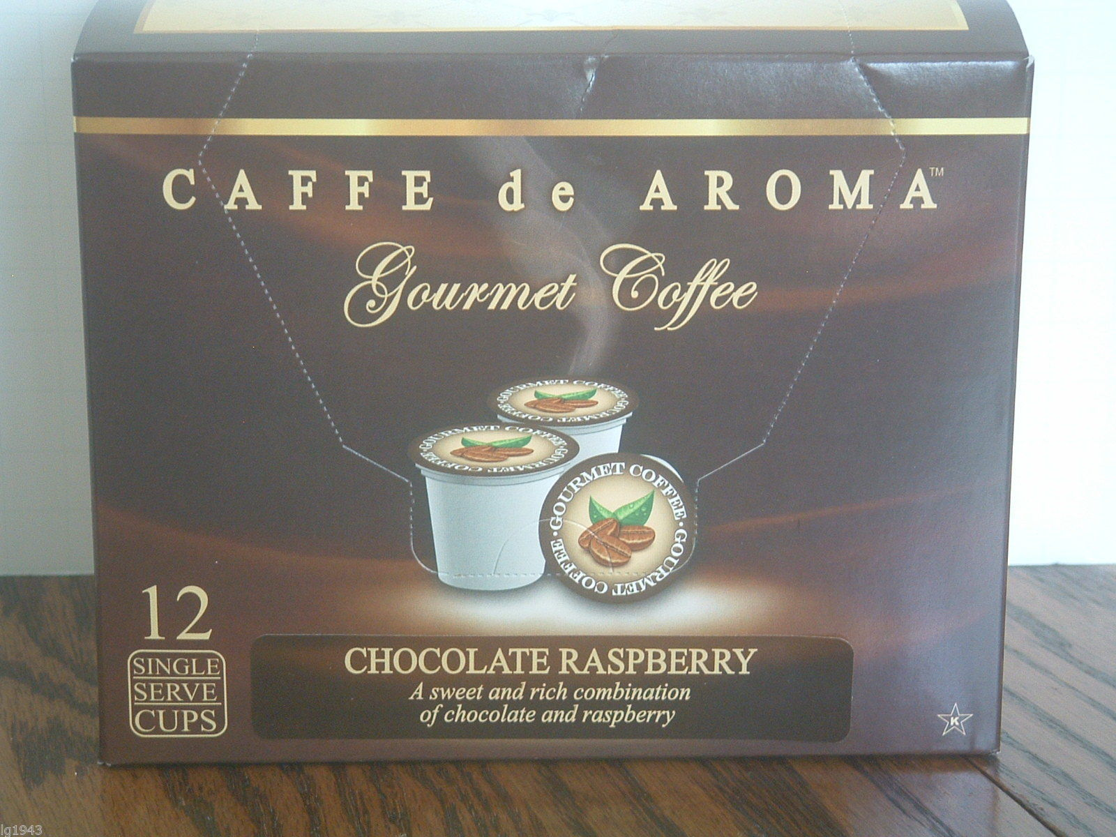 Caffe De Aroma Chocolate Raspberry 12 Single Serve K-Cups Free Shipping