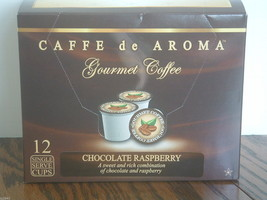 Caffe De Aroma Flavored Chocolate Raspberry 12 Single Serve K-Cups Free ... - $9.99