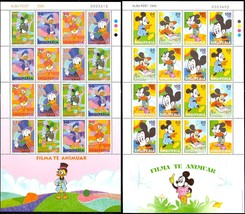 Two Different Disney Sheets From Albania - Mint Never Hinged - Stuart Katz - $39.95