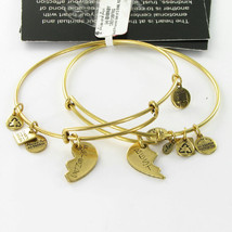 Alex & Ani CDB12BFRG Best Friends American Heart Assoc EWB Bracelet Russian Gold - $43.65