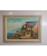 Vintage Framed Signed J Wilson Acrylic on Canvas Tuscany Landscape Scene - $222.75