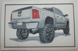 CHEVY SILVERADO Original Illustration Drawing Artwork Painting Signed Ch... - $32.71