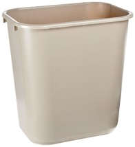 Rubbermaid Commercial Plastic Deskside Waste basket and Trash can -Beige - $17.29