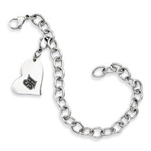 Seton Hall Pirates Stainless Heart Bracelet - $49.00