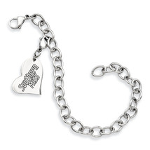 Southern Mississippi Golden Eagles Stainless Heart Bracelet - $49.00