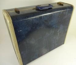 """VTG MCM Samsonite Suitcase Shwayder Bros #4721 ? Marble Blue - 21"""" x 17""""... - $66.49"""