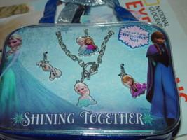 Shinning Together Disney Frozen Bracelet Add A Charm 4 Charmsc & Bracelet - $7.00