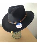 Stetson LOCKETT Crushable Felt Hat Water Resistant - bLACK Color - Size M - $68.00