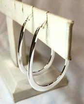 """Eli K 3D Sterling Silver Plate 2.5"""" Teardrop Hoop Earrings - $8.99"""
