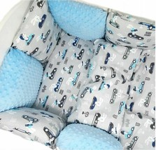 Pillow Bumper 11PCS Toddler Bed Crib Bumpers Set Of Bedding For Cot Bed Light Bl - $139.99