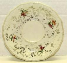 """Vintage Johann Haviland Bavaria Western Germany Floral Vine Saucer 6"""" Scalloped - $9.90"""