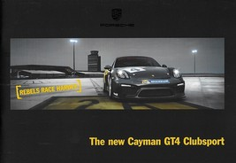 2016 Porsche CAYMAN GT4 CLUBSPORT sales brochure catalog US 16 racing CS - $25.00