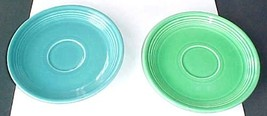 2  vintage Fiesta saucers for sale one is turquoise- one is green - $6.99