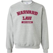 222 Law school Crew Sweatshirt just kidding funny college party ivy nerd... - $20.00+