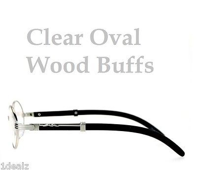 ac05ead96c 1. 1. Previous. New Oval Wood Buffs Unisex clear glasses Oval UV400 Lenses  and Silver frame