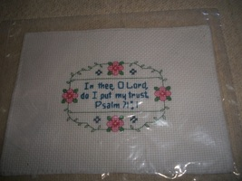 Psalm 71:1 Bible Verse Cross Stitch - $6.00