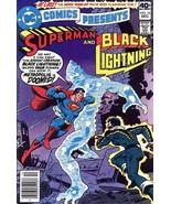 DC COMICS PRESENTS #16 ~ SUPERMAN & BLACK LIGHTNING - $1.50