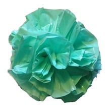 "25 Car Limo wedding Decoration Plastic Pom Poms Flower 4"" - mint green - $4.94"