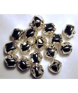 LOT 50  Shiny SILVER JINGLE BELLS ~ 20mm (3/4