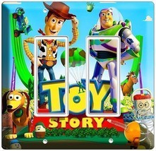 DISNEY TOY STORY 3 WOODY BUZZ DOUBLE GFI LIGHT SWITCH COVER PLATE BOY RO... - $14.99