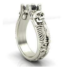 Skull Engagement Ring Set in 10 k Temple of the... - $699.00
