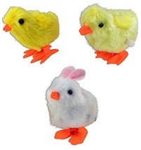 WIND UP FUZZY BUNNY OR CHICK - One item w/Random Color and Design [Toy]