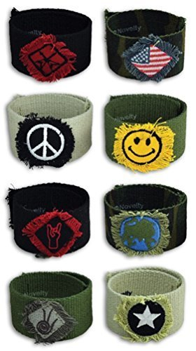 CANVAS CUFFS - One Item w/Random Color and Design [Misc.]