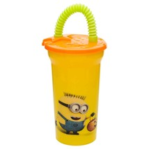 MINIONS CUP WITH STRAW & LID-A set of three - $12.95