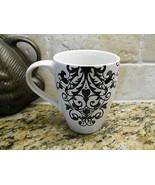 222 fifth rococo black & white mug - $5.89