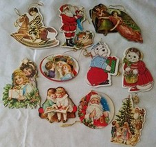 Vintage Style 2 Sided Cardboard Christmas Ornaments - $16.99