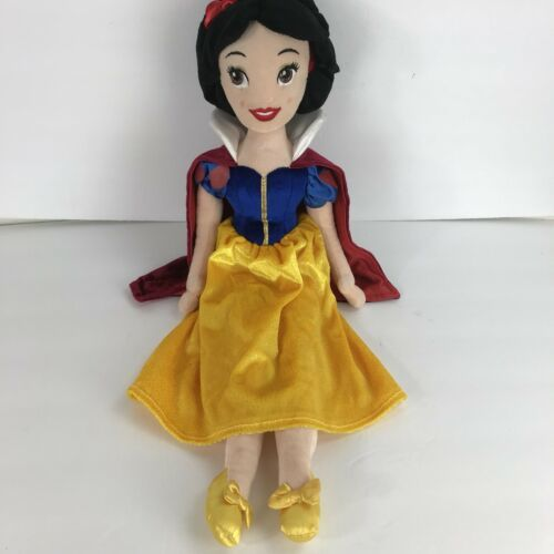 "Disney Snow White 20"" Plush Doll Stuffed Animal Gold Blue Dress Red Cape"