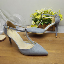PS014 fashion ankle t-type sandals, size, 35-38, grey - $48.80