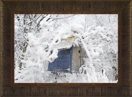 Winter Blues By Todd Thunstedt 17.5x23.5 Tree Winter Landscape Birdhouse... - $59.00