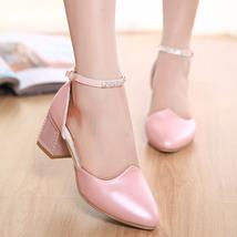 PS015 fashion ankle sandals w rhinestone strap, size, 34-39, pink - $48.80