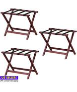 3 PACK Luggage Suitcase Rack Wood Folding Hotel Shelf Stand Tray Cart 24... - $148.45