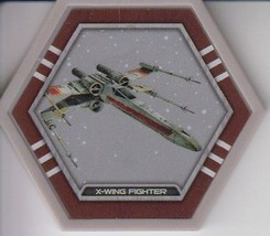 X-Wing Fighter 2016 Topps Star Wars Galactic Connexions Common Gray Disc - $0.99