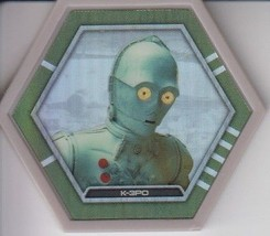 K-3PO 2016 Topps Star Wars Galactic Connexions Common Gray Foil Disc - $0.99