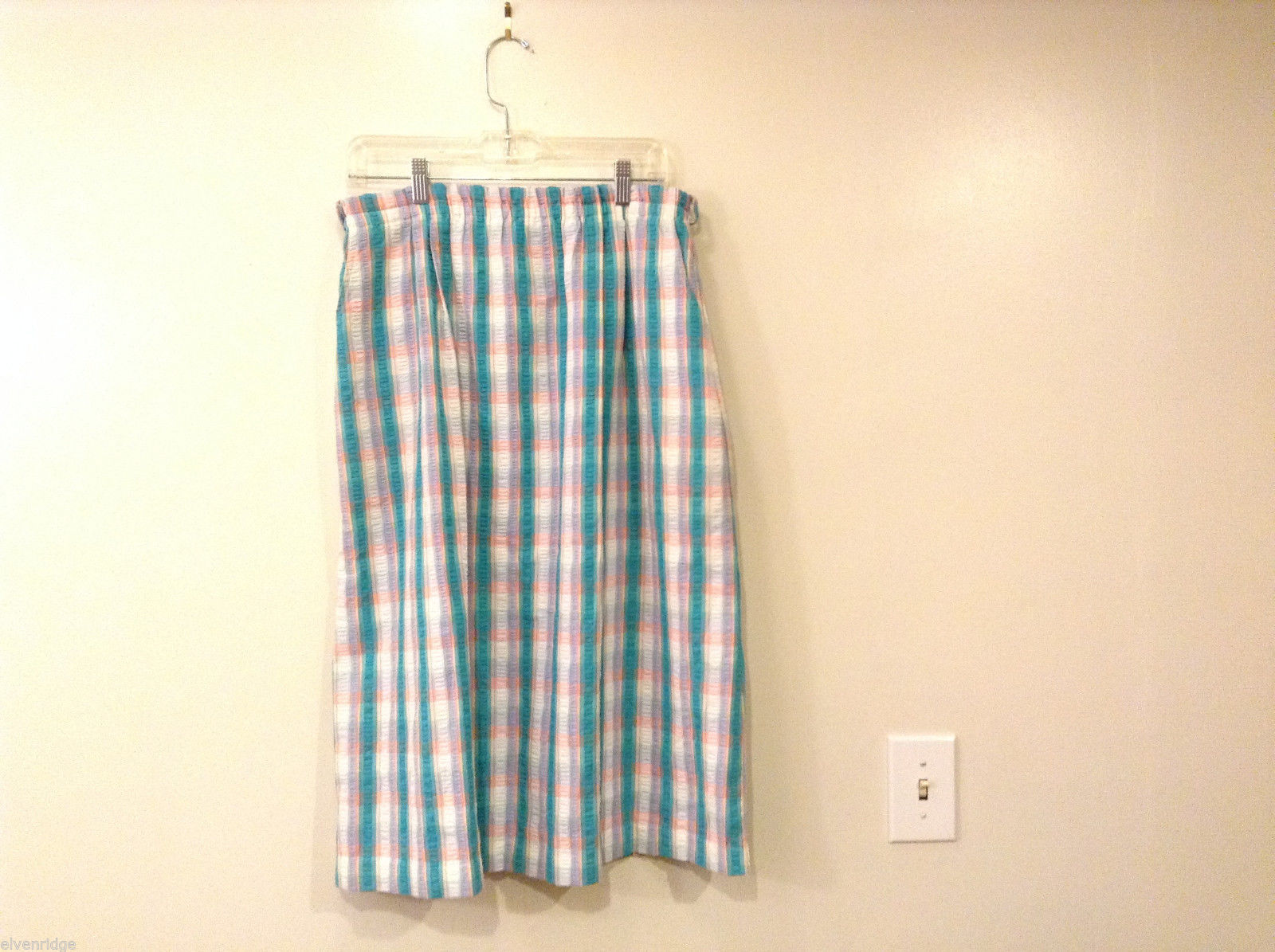 David Smith Women's Size S Long Midi Tea Length Skirt Plaid Check + Real Pockets
