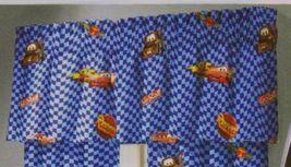 Disney Pixar Cars Blue Flag Mater Autograph Window Curtain Valance  - $15.99