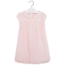Mayoral Little Girls Sequin Mesh Overlay Bubble Dress