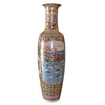 Beautiful Emperor's Geisha Porcelain Floor Vase, 20''d x 82''H. - $1,533.51