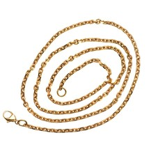 Solid 14K Rose Gold Men 2.8 mm Cable Link 24 in Chain Authentic 16.77 gram - $925.75
