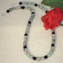 Sesame Jasper Gemstone Beaded Necklace  FREE SHIPPING - $30.00