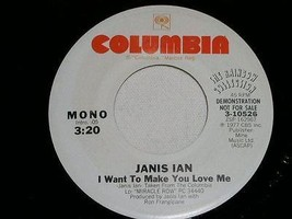 Janis Ian I Want To Make You Love Me Promotional 45 Rpm Record Vintage 1977 - $18.99
