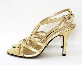 Platinum bp Gold Strappy High Heel Sandals U.S. Size 8M - $852,50 MXN