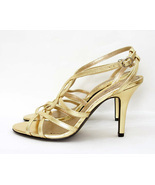 Platinum bp Gold Strappy High Heel Sandals U.S. Size 8M - €40,54 EUR