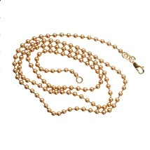 Ball Link Solid 14K Rose Gold 21.04 gram 3 mm Real Mens Necklace 30 in - $1,161.50