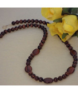 Red Tiger Eye Gemstone Beaded Necklace  FREE SHIPPING - $39.00