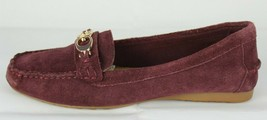 Coach New York Fortunata women's shoes burgundy loafers slip on suede size 7B - $44.67
